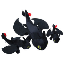 Hot Anime How to Train Your Dragon 3 plush toy Soft Toothless Night Fury Plush stuffed animal doll Christmas kids gift