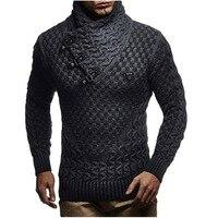 ZOGAA Men Sweaters 2019 Brand New Warm Pullover Sweaters Man Casual Knitwear Winter Men Black Sweatwer XXXL Computer Knitted