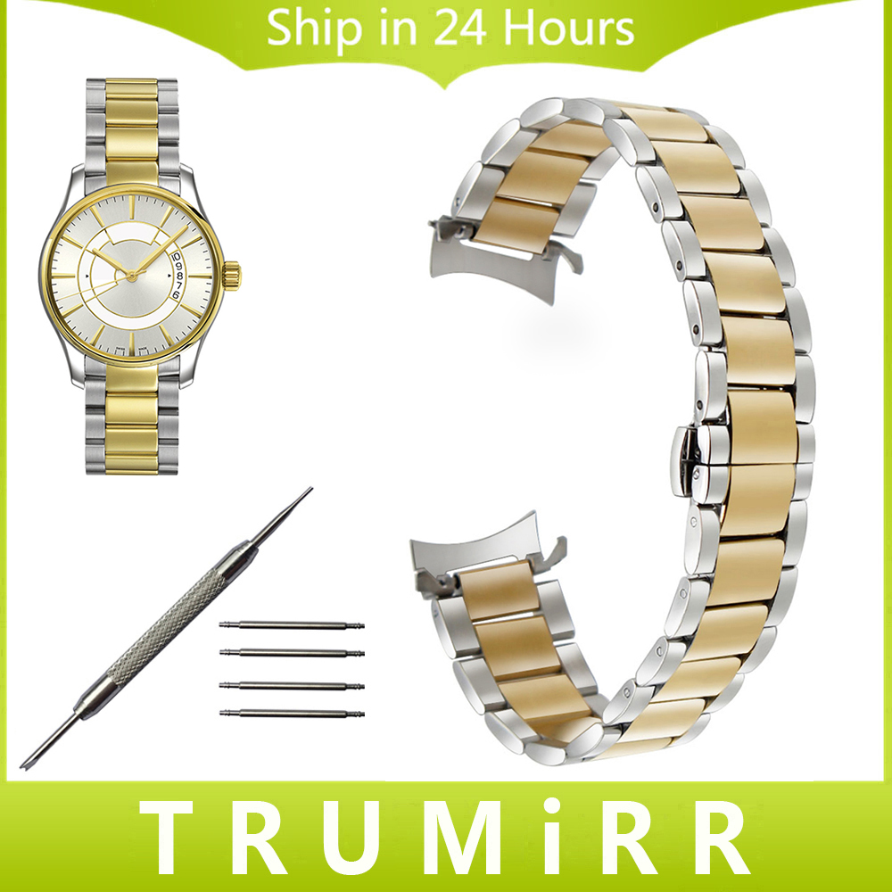 Curved End Stainless Steel Watchband for Mido Men Women Watch Band Butterfly Clasp Strap Wrist Bracelet 14mm 16mm 18mm 20mm 22mm curved end stainless steel watchband for rado men women watch band wrist strap butterfly clasp belt bracelet 18mm 20mm 22mm 24mm