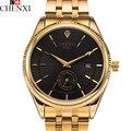 2017 calendário chenxi relógio de ouro relógio de quartzo homens top marca de luxo relogio masculino quartzo-relógio de pulso relógios de ouro hodinky