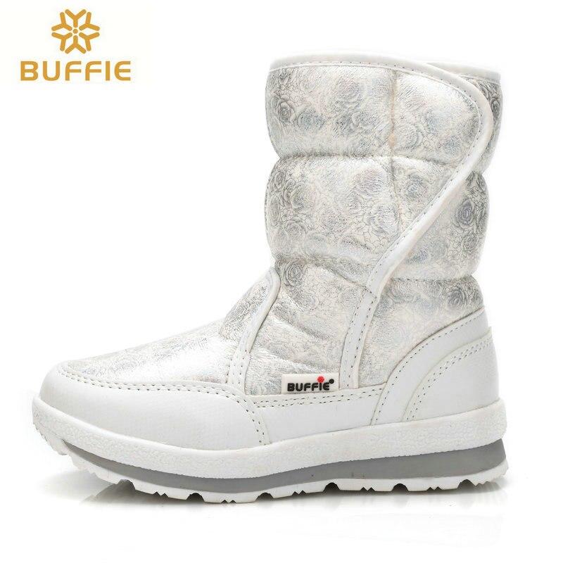 0fa30198d33 2017 venta Caliente zapatos de piel de Invierno Mujeres nieve botas Señora  caliente impermeable blanco chica