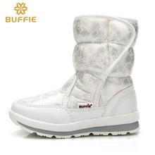 2017 зимняя новый Женщины снег сапоги Леди обувь теплый меховой водонепроницаемый дочь девушка белый Buffie бренд моды обувь бесплатно доставка