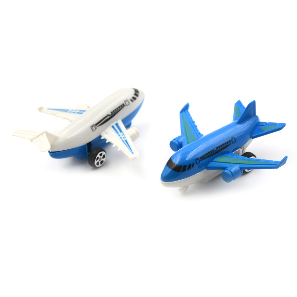 2018 Newest Plastic Kids Pull Back Plane Passenger Plane Toy Aircraft For Kids Gift Toys