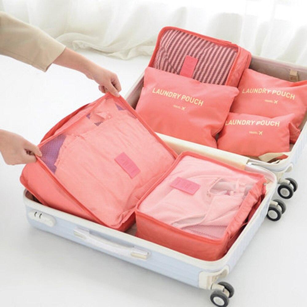 ▻6 unids/set portátil organizador de viajes bolsa de almacenamiento ...