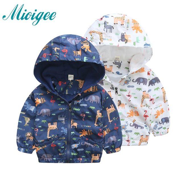 Детская куртка Новое поступление 2017 для маленьких мальчиков 80-120 см Весенние жакеты верхняя одежда Флисовая куртка с капюшоном и изображением динозавров для мальчиков; Детское пальто