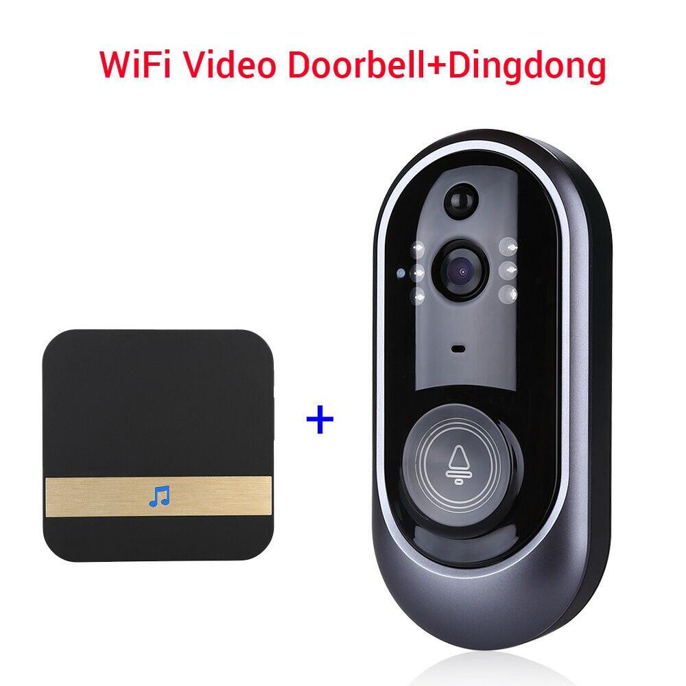 Smart Wireless WiFi Doorbell Visual Security Intercom +Dingdong Record PIR BellSmart Wireless WiFi Doorbell Visual Security Intercom +Dingdong Record PIR Bell