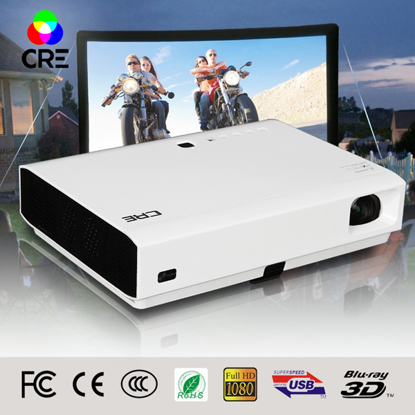 2016 Best CRE X3001 3LED smart home theatre wifi projectors full hd led DLP support 1080P