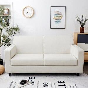 Image 2 - Parkshin Nordic Elastische Spandex Sofa Abdeckung Engen Wrap All inclusive Couch Abdeckungen für Wohnzimmer Schnitts Sofa Abdeckung