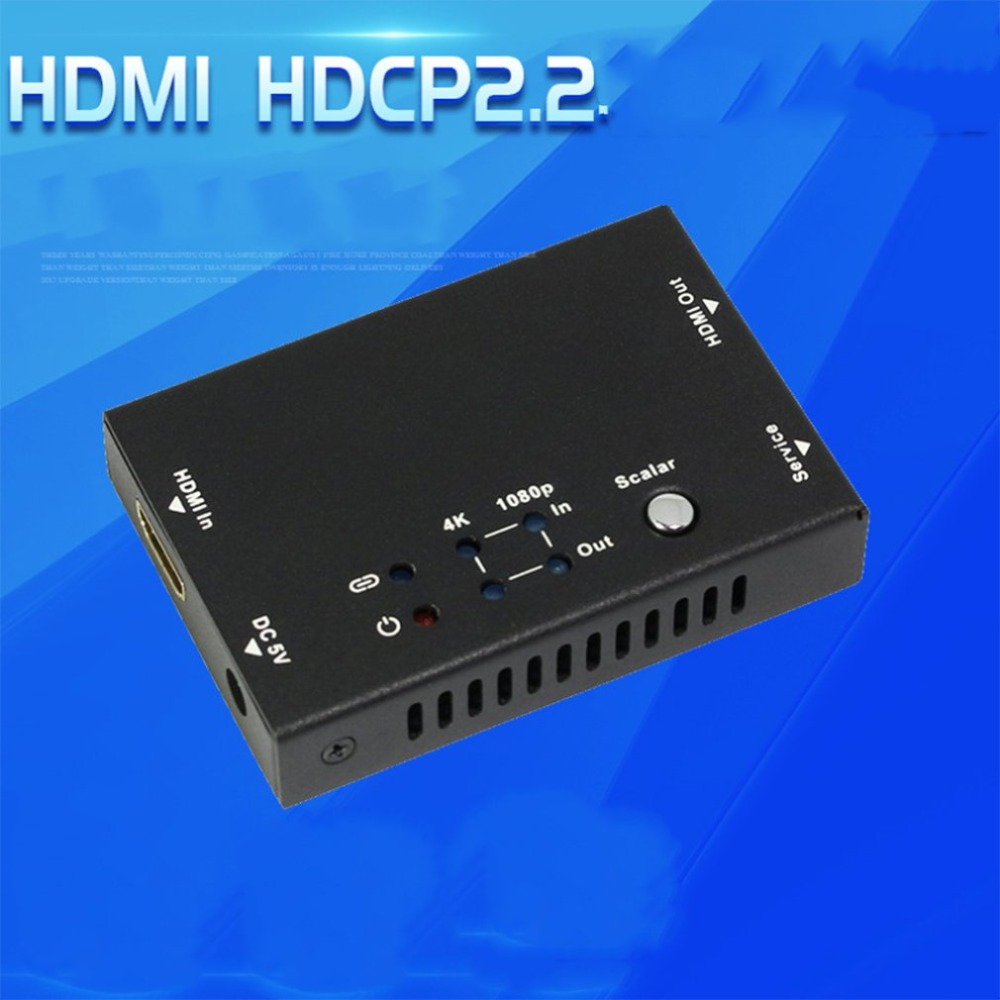 HDCP Converter 4K to 1080P UHD HDMI 2.0 HDCP 2.2 to HDCP 1.4 Converter Adapter Supports 4K2K 60HZ HDMI Adapter