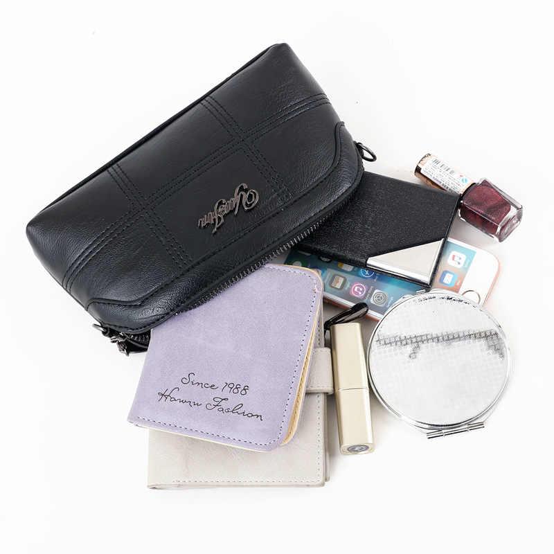 HMILY Kadın Mini postacı çantası Deri Bilek El Çantaları Moda Klasik Siyah Crossbody Çanta Kadın Küçük el çantası Bayanlar