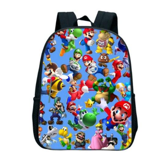 13 Inch Cartoon Super Mario Bros Sonic Boom Kids Backpack Kindergarten School Bag Children Printing Backpack Girls Boys Mochila #5