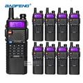 8 unids baofeng uv-5r 3800 mah li-ion walkie talkie vhf uhf 136-174 mhz/400-520 mhz dual band uv5r radio de dos vías