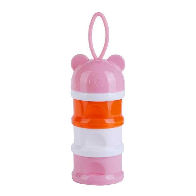 3grid Cute Bear Milk Powder Formula Dispenser Baby Food Feeding Storage Box Children Food Storage Container Storages Tank