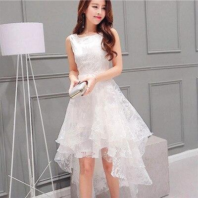 fd9b743df8 New Women Summer Ball Gown Dress O neck Sleeveless England Style ...