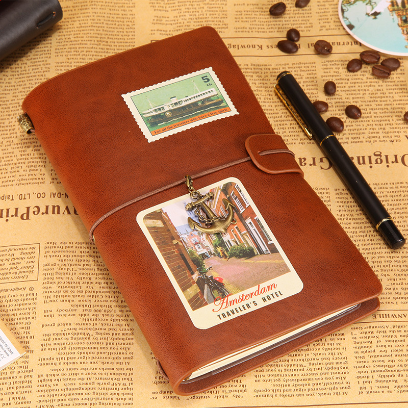 Middle Size Faux Leather Shining Cover,Silver Color 12 Pockets with 4 Rubber Bands Good for Writing Drawing as a Gift for Woman Man Travelers Notebook Refillable Journal Blank Pages Daily Note
