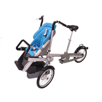 double bicycle parent child car infant child three wheeled electric mother car with baby car foldable baby car