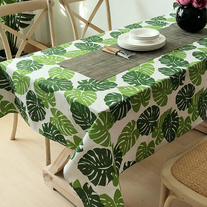 quality fresh European style tropical rain forest table cloth cover rectangular tablecloth coffee