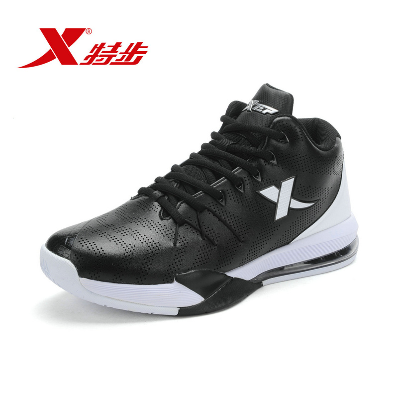 XTEP free shipping Authentic Men's Basketball Boots Outdoor  Anti-slip Gym Breathable Sneakers Sports Shoes 984319120906 peak sport men outdoor bas basketball shoes medium cut breathable comfortable revolve tech sneakers athletic training boots