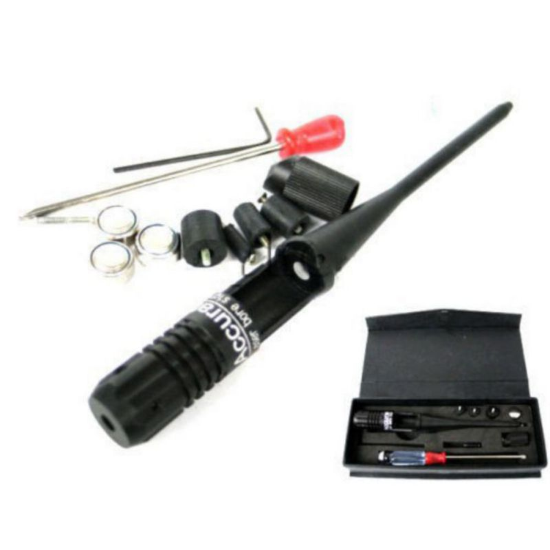 Tactical 650nm Riflescope Red Colimador Laser Bore Sight Scope .22 to .50 Caliber Boresighter 3 Battery Collimator