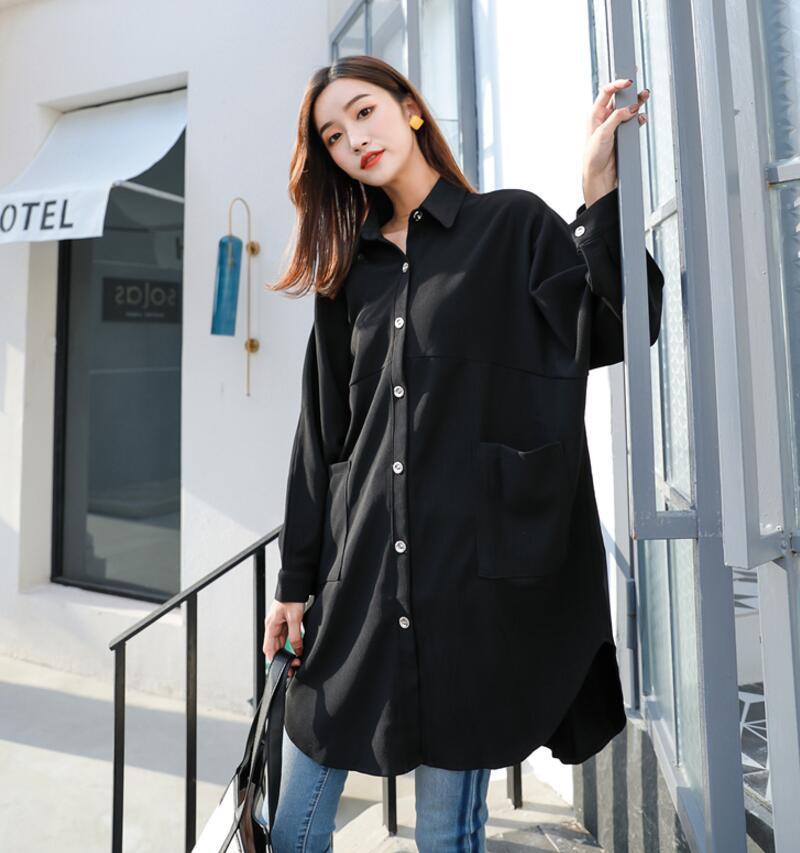 Street Style Black Woman: 2019 New Women's Fashion Street Style Loose Batman Sleeve