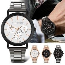 цена Modern New Fashion Brand Men Watch Business Stainless Steel Strap Watches Women Clock Ladies Male Quartz Wristwatch онлайн в 2017 году