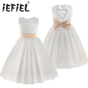Image 1 - 2020 Brand New Flower Girl Dresses White/Ivory Real Party Pageant Communion Dress Little Girls Kids/Children Dress for Wedding