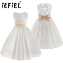 2020 חדש לגמרי פרח ילדה שמלות לבן/שנהב אמיתי מסיבת תחרות הקודש שמלת ילדות קטנות ילדים/ילדי שמלת עבור חתונה