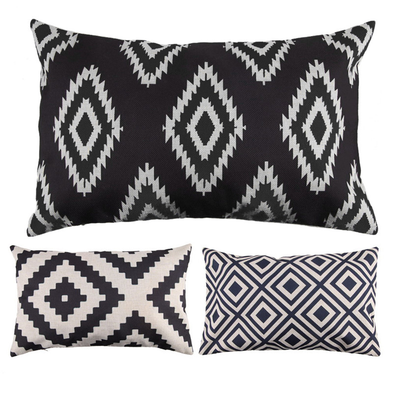 Throw Pillow Uses : Aliexpress.com : Buy 30cm x 50cm Pillow Cover Modern Linen Cotton Rectangle Throw Pillow Case ...