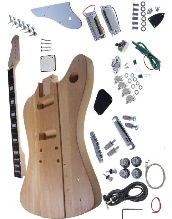 Kits guitare électrique Firebird/bricolage corps et cou en acajou, y compris toutes les pièces