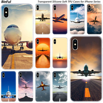 Hot Airplane Departure Soft Silicone Fashion Case for Apple iPhone 11 Pro XS MAX XR X 7 8 Plus 6 6s Plus 5 5C 5S SE TPU Cover image