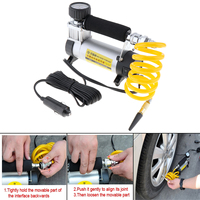 Portable 35L/Min 12V digital Car Air Compressor pump kompresor Tyre Tire Inflator with 3Meter Power Cord Cigarette Lighter Plug