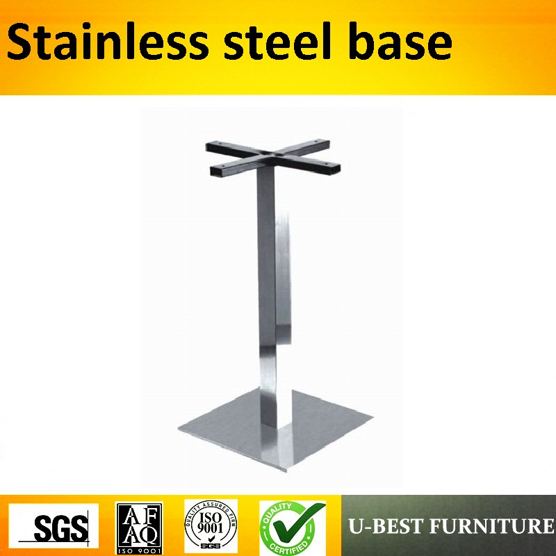 U-BEST Tulip Stainless Steel  Dining Table Base For Granite Tops Table Legs