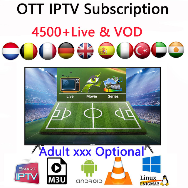US $15 0 |IPTV French M3u Subscription Iptv Arabic Italy UK German Spanish  India Pakistan Turkey For Android TV Box MAG25X TVIP Smart TV-in Set-top