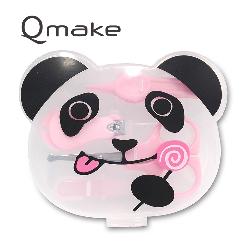 Lovely Panda For Kid Manicure Tool Portable Pedicure Sets With Qute Plastic Case Stainless Steel Nail Clipper Kit for Lady