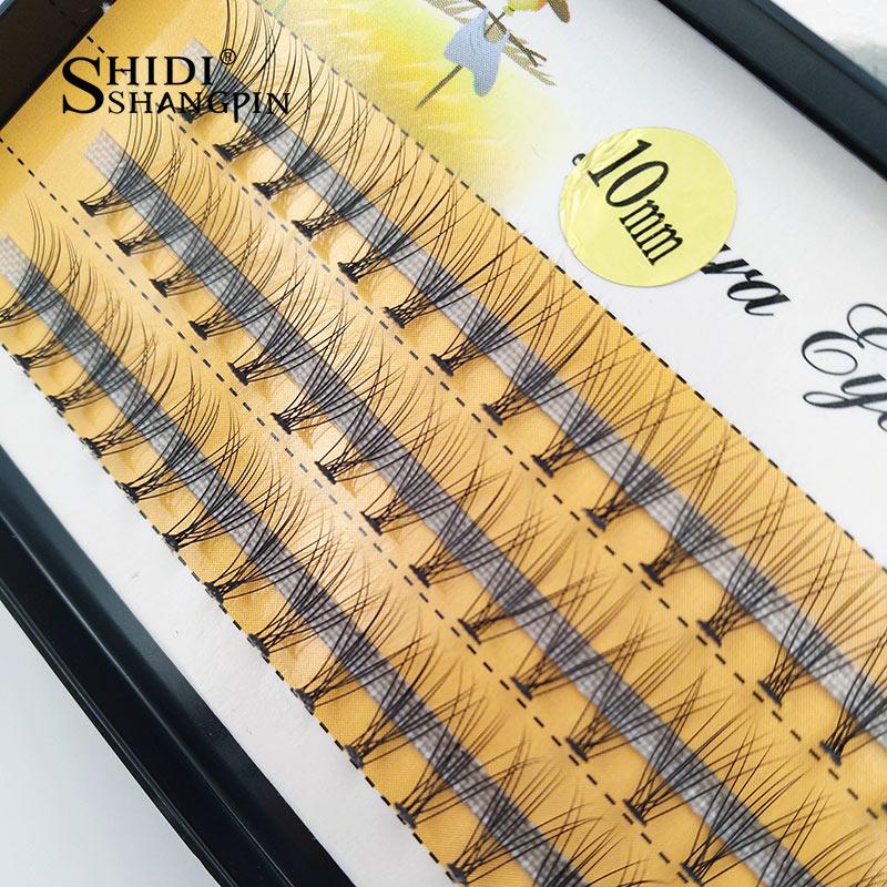 SHIDISHANGPIN 60 pcs individual lashes 0 07 C curl false eyelash extension 8 10 12mm lashes