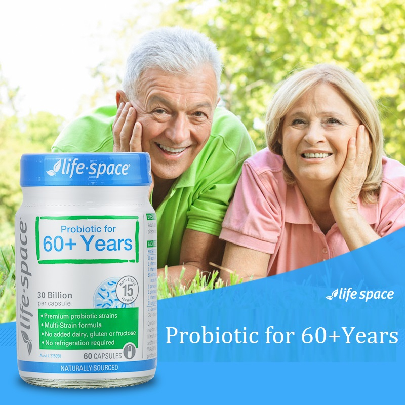 Australia Life Space Probiotic for 60 Years 60 Capsules Support Healthy Immune Digestive System
