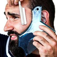 Beard Styling Template Stencil Beard Comb For Men Lightweight and Flexible Fits All-In-One Tool Trimming Beard Shaping Comb Tool(China)