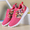New Flower Print Women Trainers Lightweight Breathable Sport Woman Mesh Shoes Casual Outdoor Walking Women Flats Zapatillas Muje