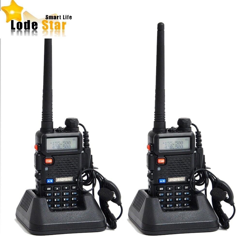 imágenes para 2017 original baofeng uv 5r uv-5r portátil de doble banda vhf uhf radio de dos vías 136-174/400-520 de radio de jamón cb Walkie Talkie 2 unids/set