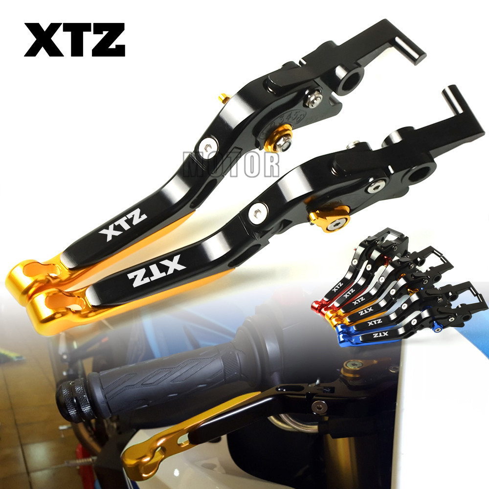 Motor For Yamaha XTZ125/XTZ660 Tenere/XTZ750 Super Tenere Motorcycle CNC Brake Clutch Levers Adjustable Folding XTZ 125 660 750