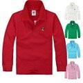 Top quality crianças camisas pólo branco camisa vermelha t da criança do bebê grande menino roupas de algodão de manga longa crianças camisetas