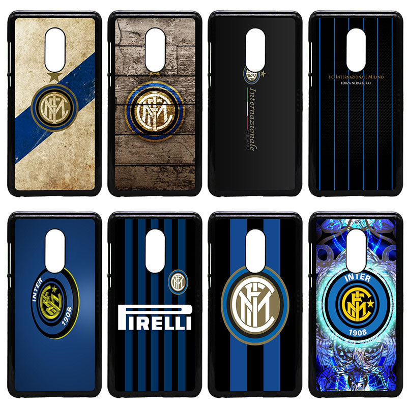 Inter Milan Italy Football Club Logo Phone Case Hard Cover for Xiaomi Redmi 3X Mi 6 5 5S Plus Note 4X 2 3 3S 4 Pro Prime Shell