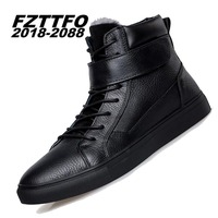 Big Size 36 48 Winter Add Fur Men Boots Top Quality Handsome Comfortable Brand Genuine Leather