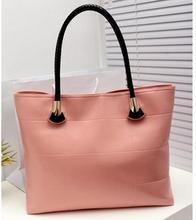 2016  High Quality PU Leather Fashion Brand Bags Women Shoulder Bag Solid Totes Plaid Handbags 8 colors