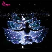 Светодиодные Крылья для танца живота ruoru взрослых и девочек