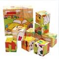 Бесплатная доставка! Детские игрушки 3D мультфильм животных головоломки игрушки 6 стороны мудрость головоломки развивающие игрушки деревянная игрушка подарок