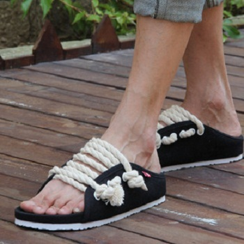 363fdd26e sandals couple shoes fashionable casual slippers yeezy creative hemp  cordage slippers the same paragraph of Piece flip flops hot