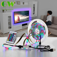 USB LED Strip 2835 SMD DC5V Waterproof RGB Flexible LED Light Tape 1M 2M 3M 4M 5M for TV Desktop PC Screen Background Lighting neoteck 1m led rgb strip color changing usb tv background lighting smd 5050 waterproof led ribbon tape for indoor outdoor decor