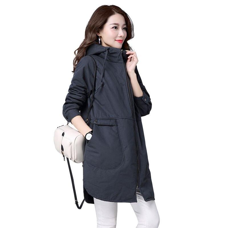 Winter Cotton Coat Women   Parka   Long Jacket Outerwear Warm Hooded Plus Size Jacket Coat Women Abrigos Mujer Slim Casual Coat Q956