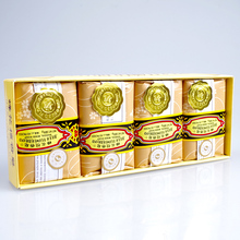 Шанхай 4 шт Подарочная коробка 125 г/4,41 унций пчела и цветок бренд Китайский сандаловое мыло ручной работы мыло контроль масла отбеливание